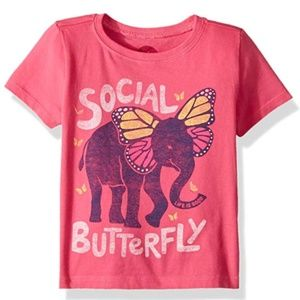 Life is Good Pink 2T Social Butterfly T-shirt